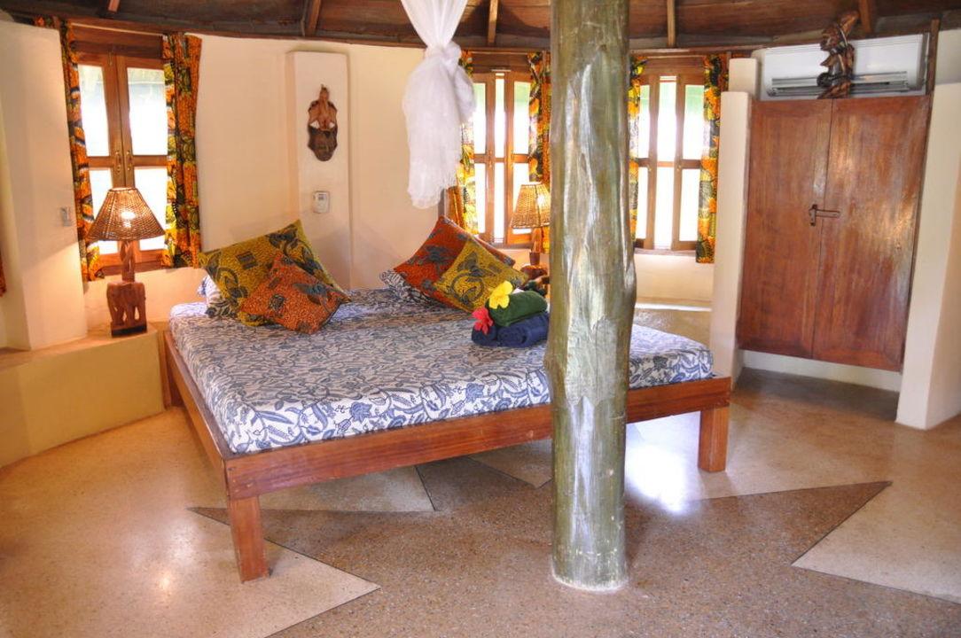 King size bed Ankobra Beach Resort