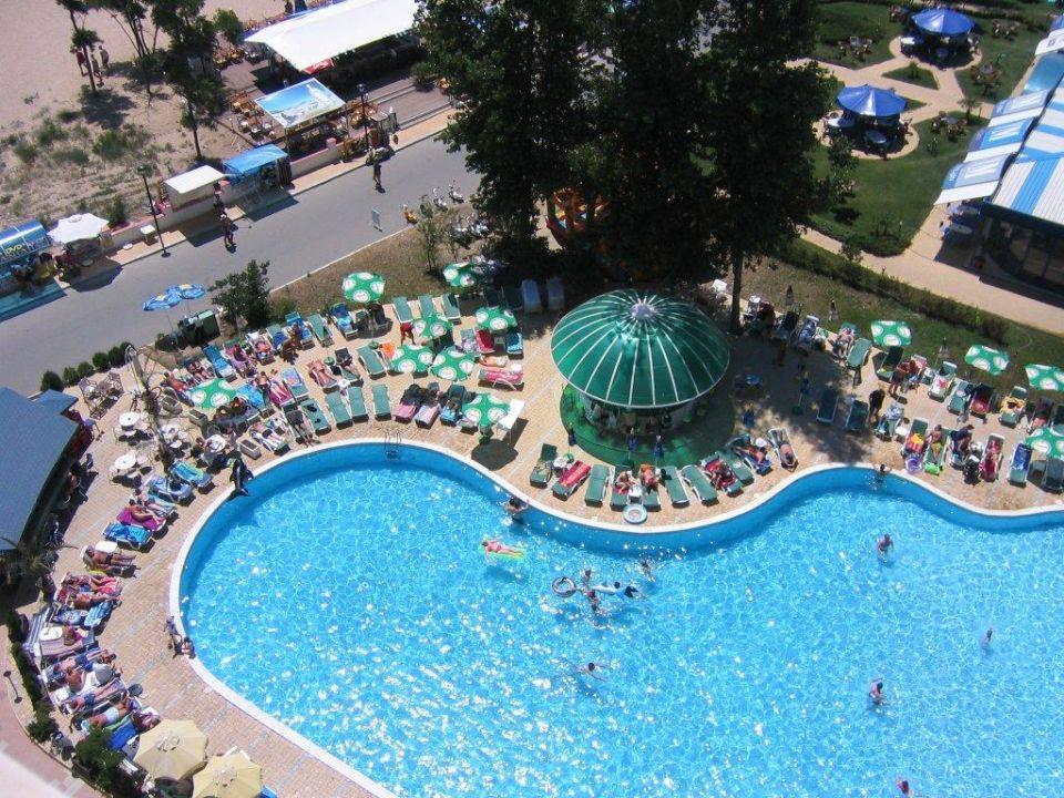 Sonnenstrand Sicht Auf Den Pool Vom Hotel Bellevue Beach Hotel