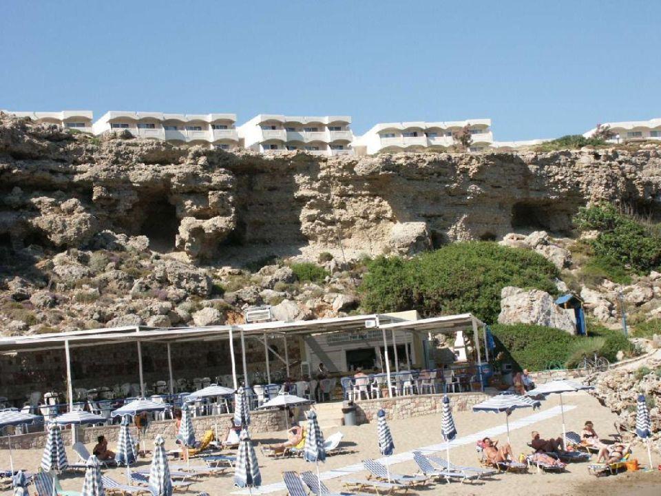 Badebucht unterhalb des Hotels Hotel Kalithea Mare Palace