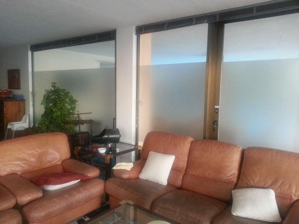 Glaswand im Wohnzimmer\