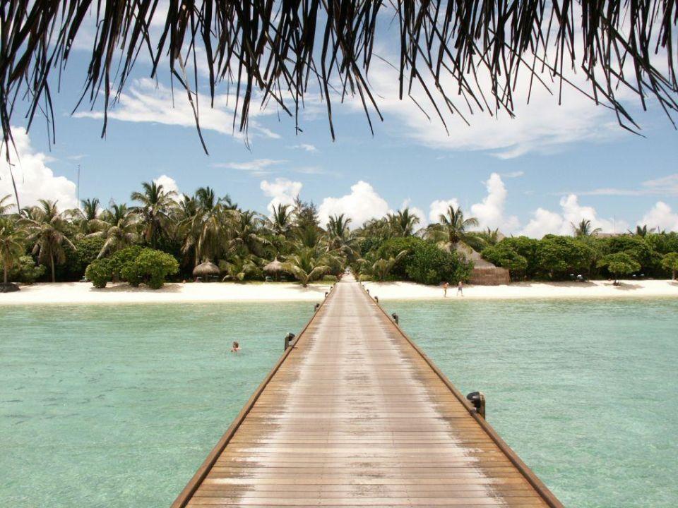 Zugang zu den Wasservillen Kanuhura Maldives