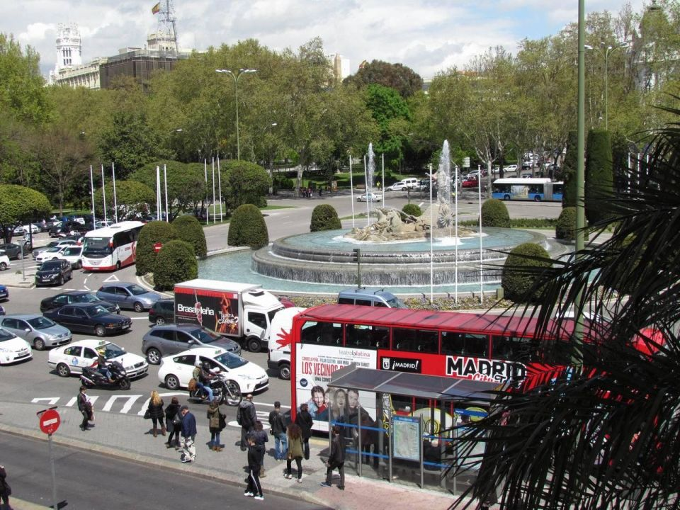 View from Suite #217 Hotel NH Collection Madrid Paseo del Prado