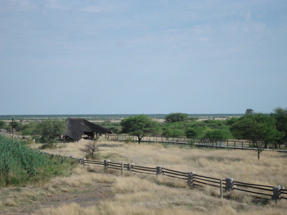 Blick vom Fort Namutoni Camp