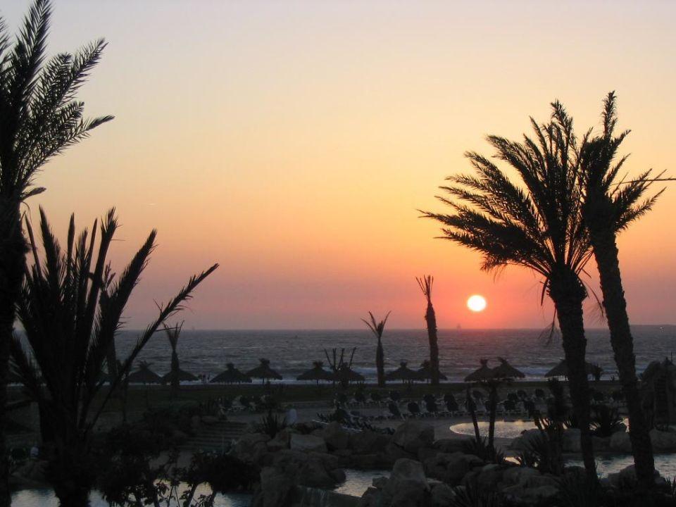 """Die Sonne """"  versinkt""""   im Meer Hotel Riu Tikida Dunas"""