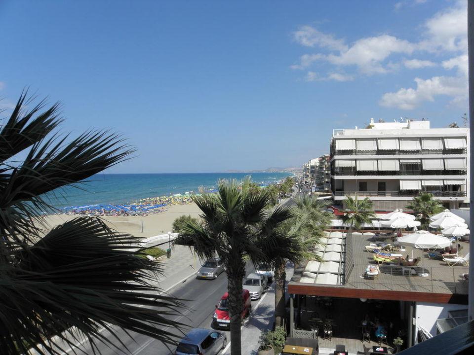 Blick vom Balkon Hotel Aquila Porto Rethymnon