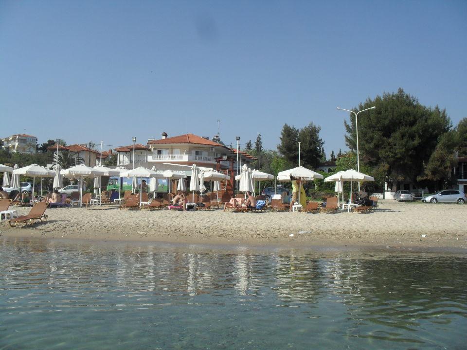 Vom Wasser aus gesehen. Georgalas Sun Beach Hotel