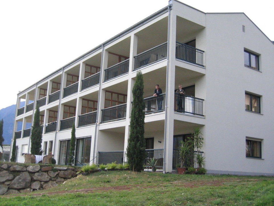 Die Rückseite des Hauses Hotel Residence Haselgrund