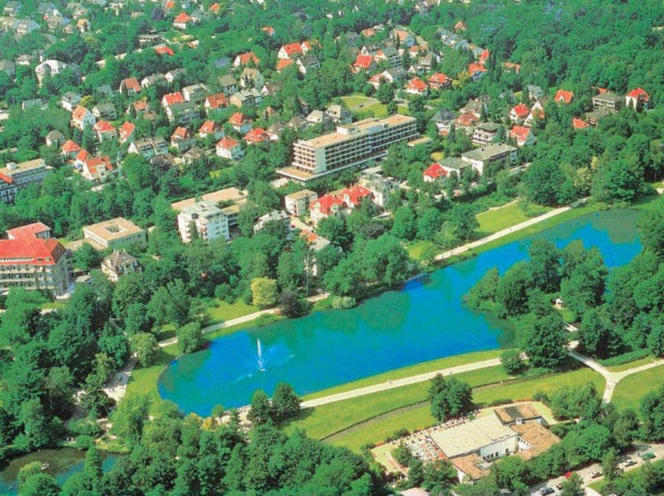 Maritim Bad Salzuflen Verwaltung : Luftbild vom Hotel Maritim Hotel Bad Salzuflen in Bad Salzuflen