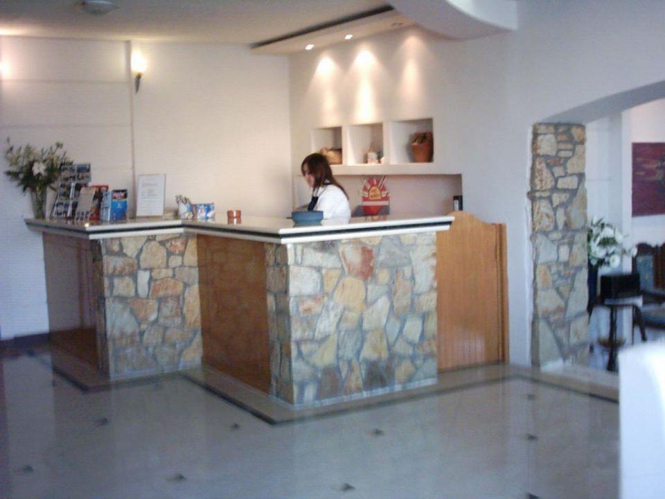 Die Rezeption Hotel Almiros Beach
