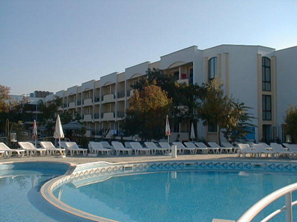 Strandja - Blick vom Pool Hotel Strandja  (Vorgänger-Hotel – existiert nicht mehr)