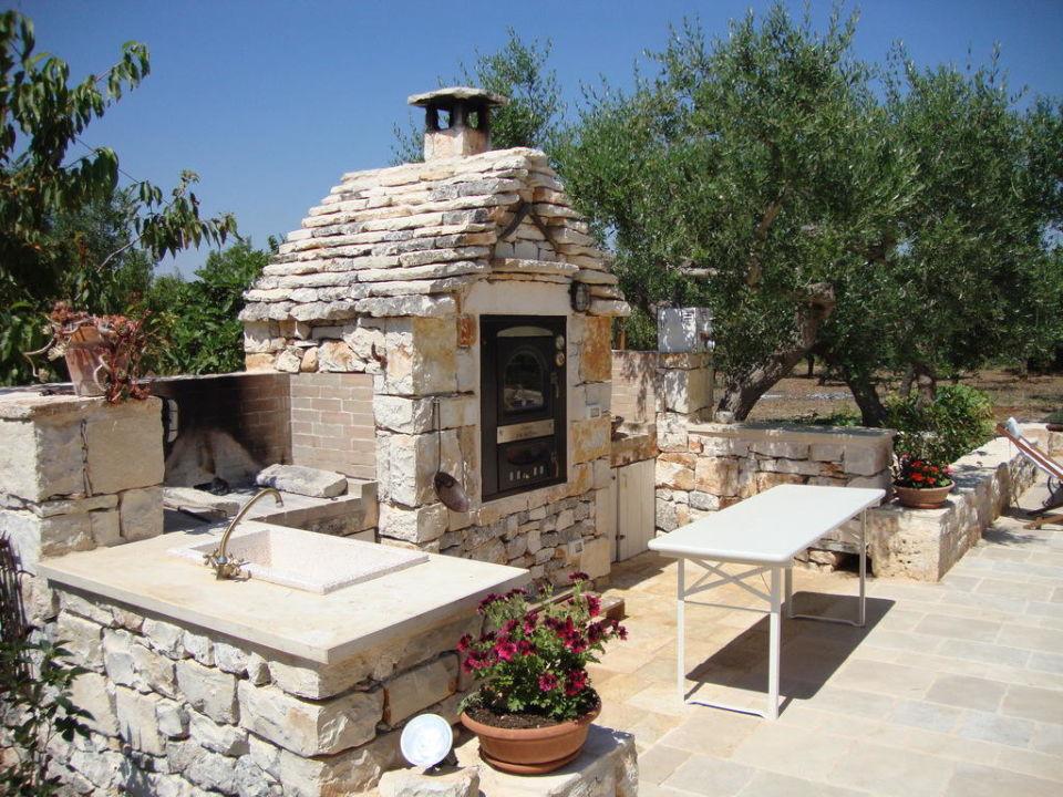 Area barbecue/forno B&B Fontana Vecchia