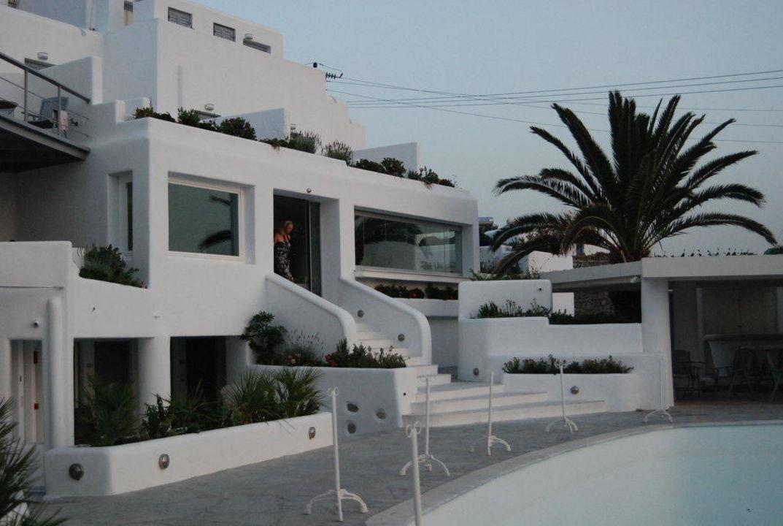 Ansicht vom Pool Hotel Ilio Maris
