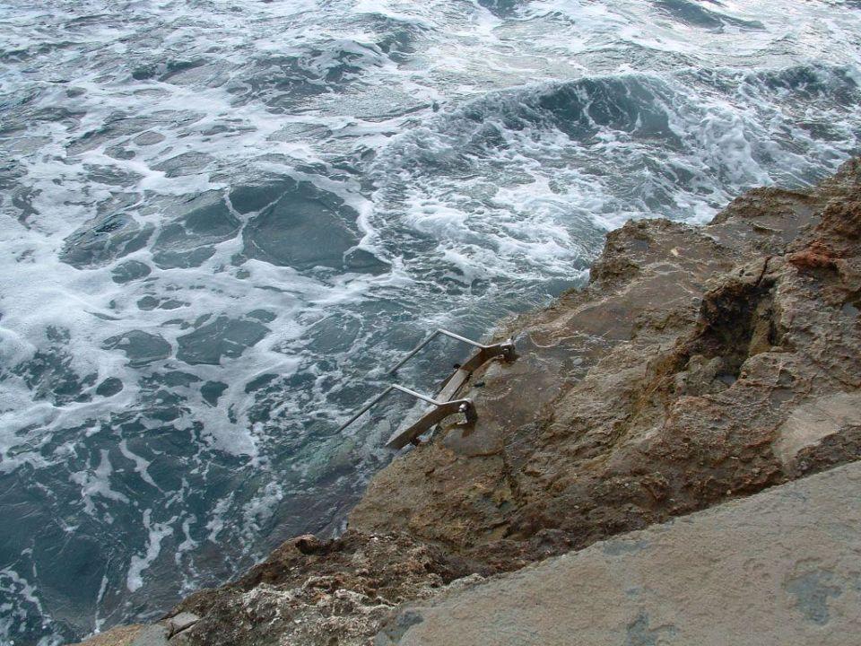 Einstieg ins Meer Villa Sirena