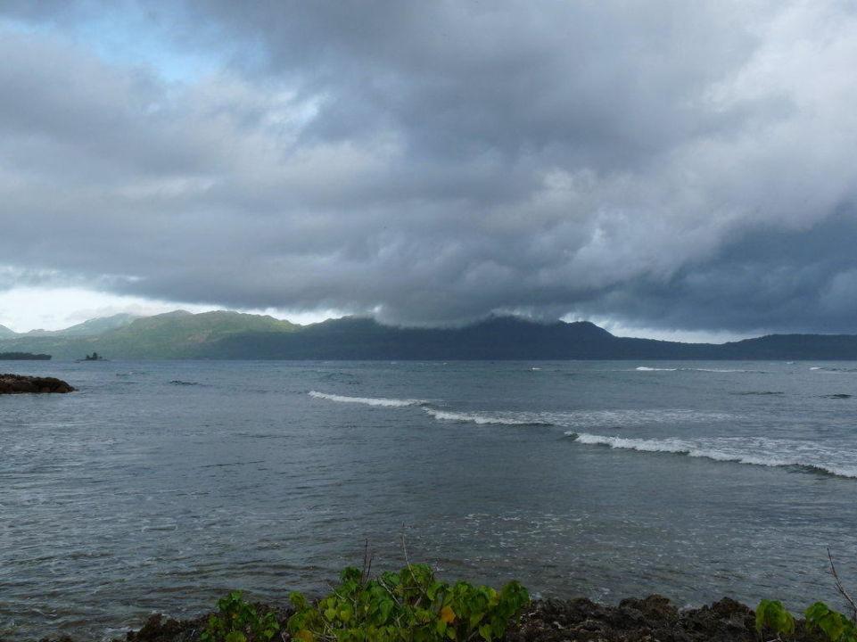 Blick vom angrenzenden Palmenwald Hotel Grand Paradise Samana