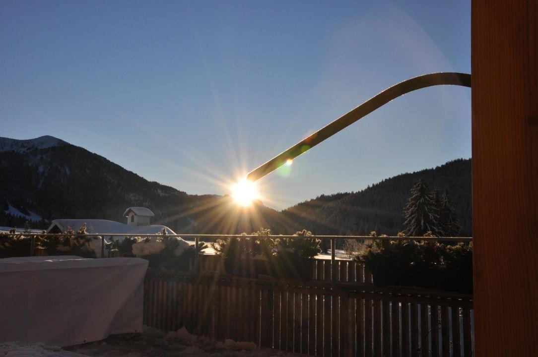Sonnenaufgang in Balderschwang Hubertus Alpin Lodge & Spa