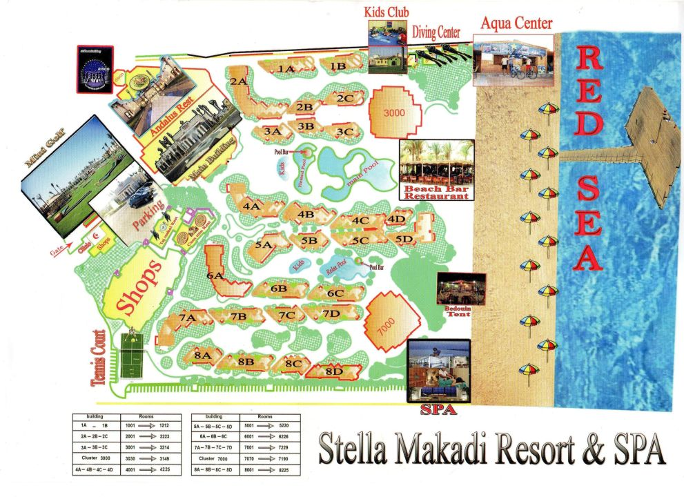 Makadi Bay Karte.Lageplan Des Hotels Stella Di Mare Beach Resort Spa