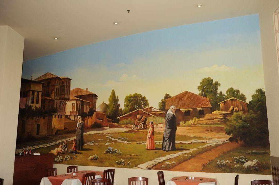 Wandbemalung im Restaurant Aladin Tia Heights Makadi Bay