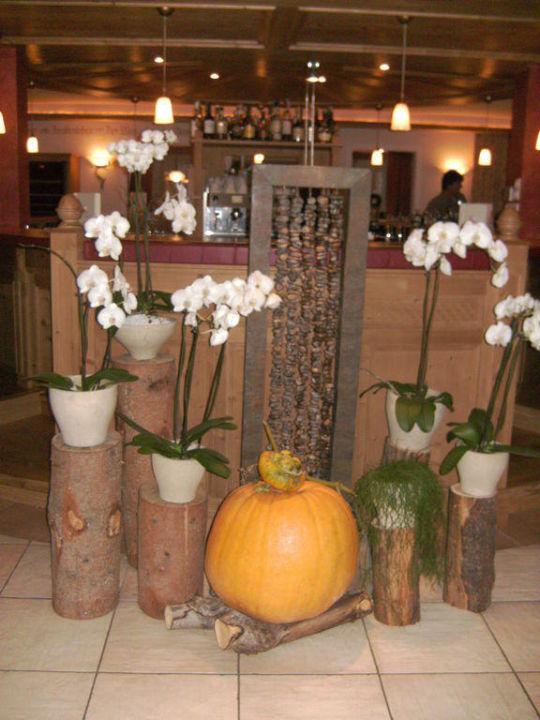 Herbstdeco Hotel Alpen Tesitin