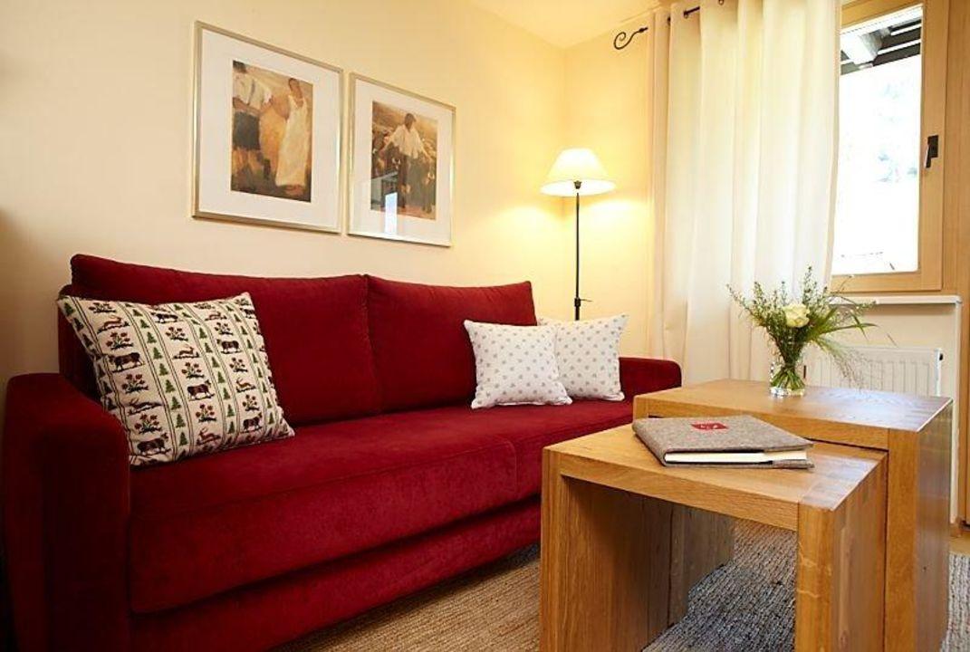 Wohnzimmer KAMINROT Ferienwohnungen Schittlerhaus