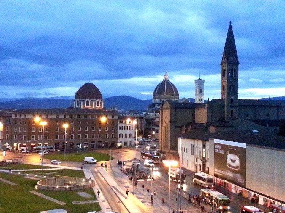 Blick von meinem Balkon Hotel Ambasciatori