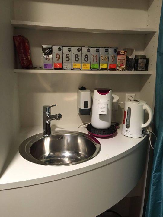 Kaffee/Tee Bereich Hotel Volapük