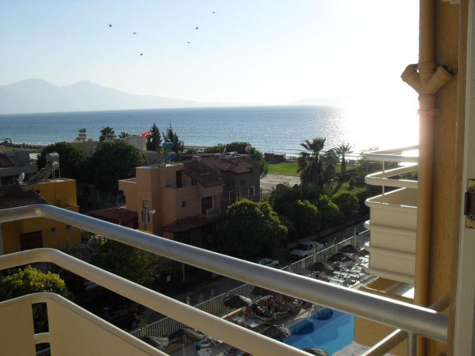 Uitzicht op zee zonsondergang Hotel Ephesia