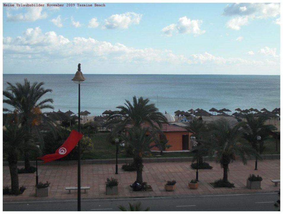 Blick zum Strand Hotel Yasmine Beach Resort