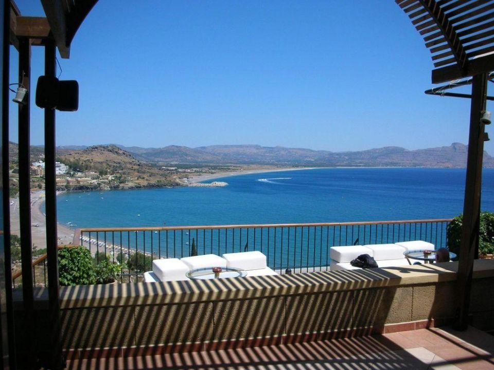 Stimmungsvoller Ausblick Lindos Mare Hotel