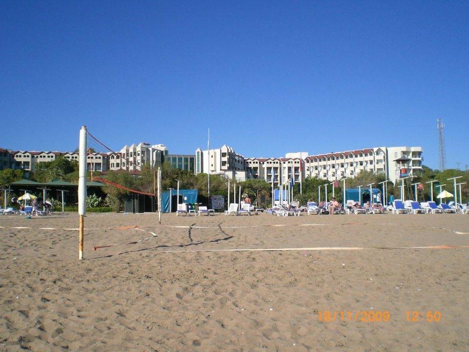 Blick vom Strand Arcanus Side Resort