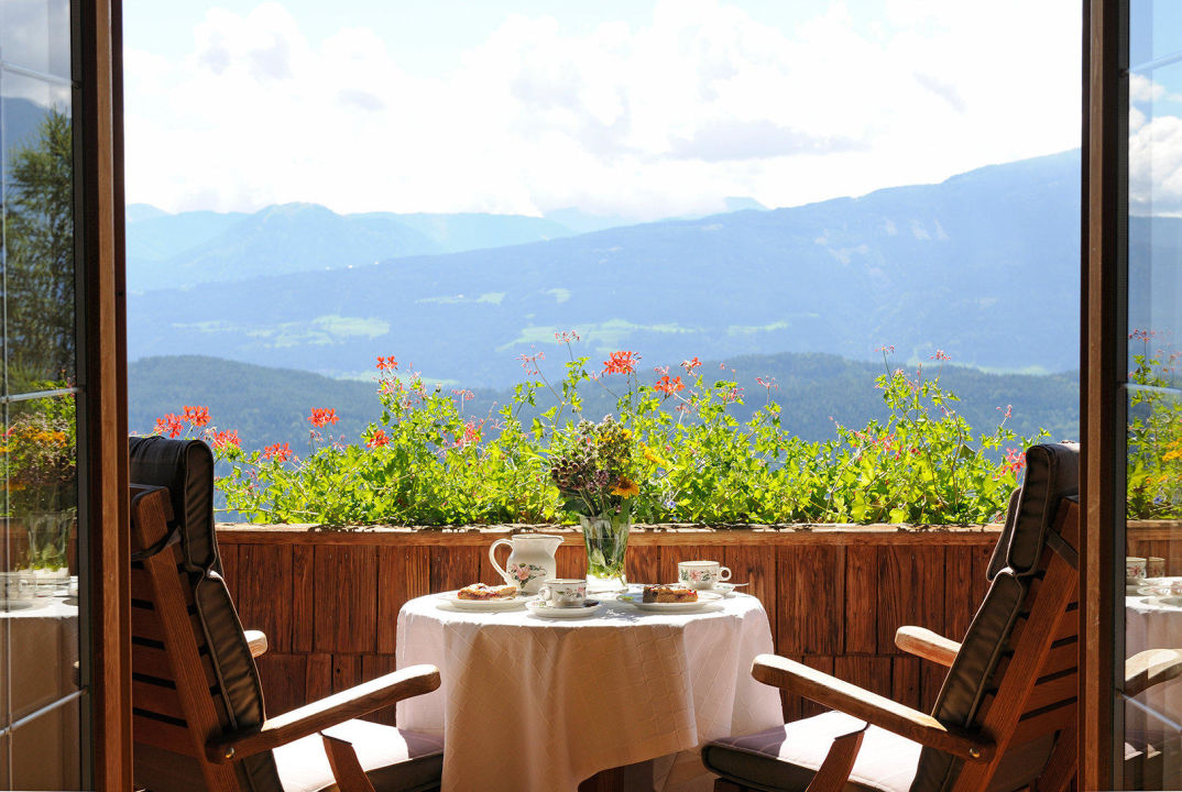 Ausblick vom Balkon Naturhotel Alpenrose