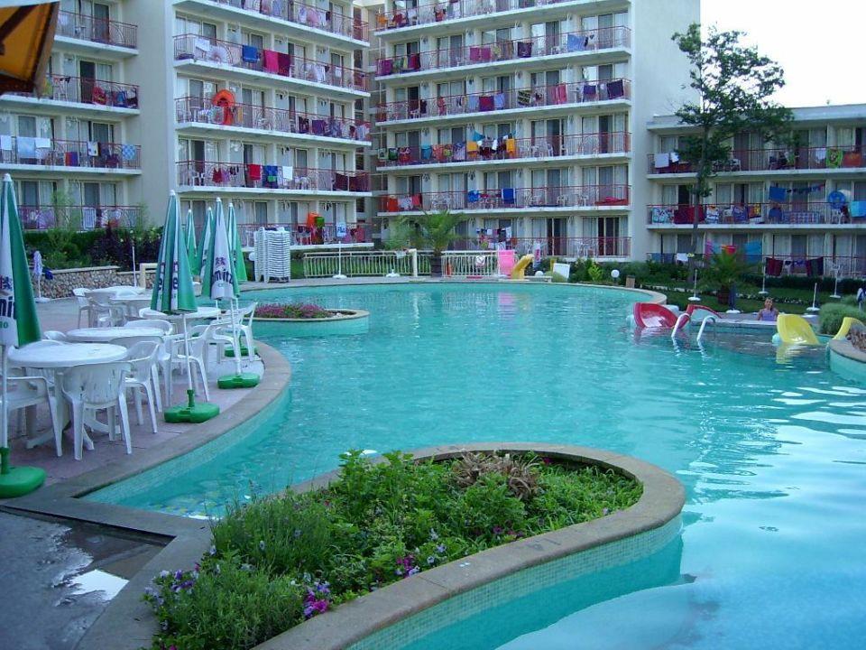 Hotel Vita Park in Albena - Bulgarien im Jahr 2003 Pool ober Hotel Vita Park