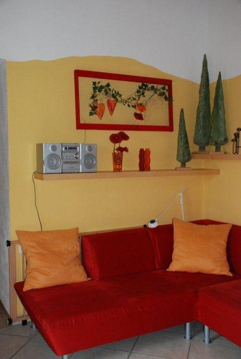 Wohnbereich im Schwalbennest Ferienhof Neudeck