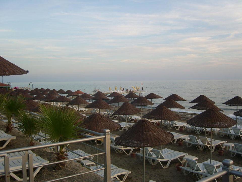 Hotelstrand abends Hotel Club Dizalya