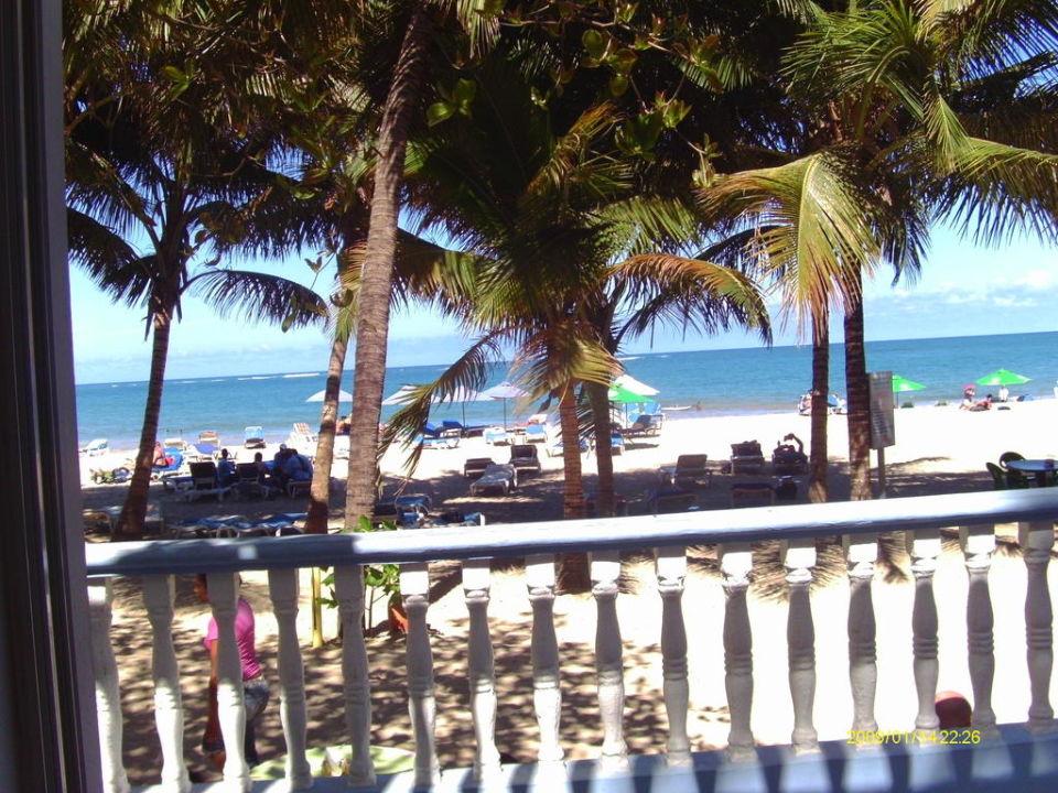 Strand von der Terrasse des Hotels Hotel Tropical Clubs Cabarete