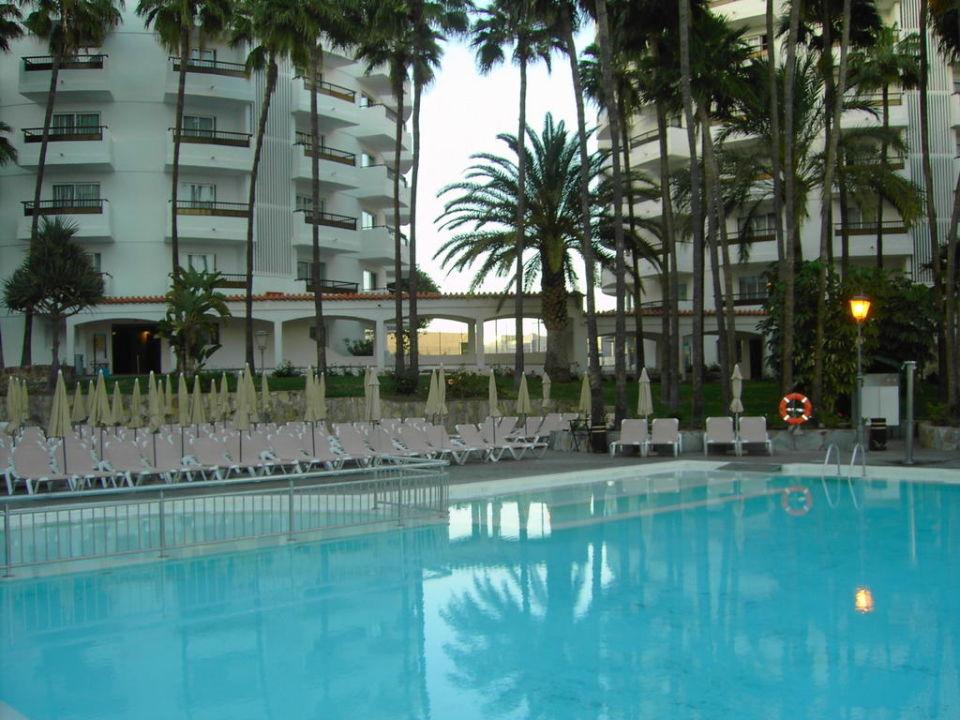 Pool mit Turm B und C im Hintergrund Servatur Waikiki