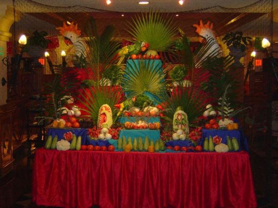 Dekoration beim Abendessen Hotel Riu Palace Mexico