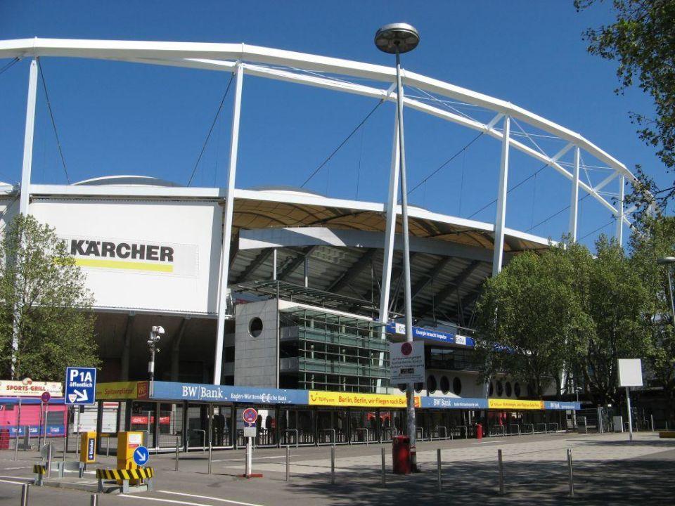 Daimlerstadion direkt vor dem Hilton Garden Inn Hilton Garden Inn Stuttgart NeckarPark