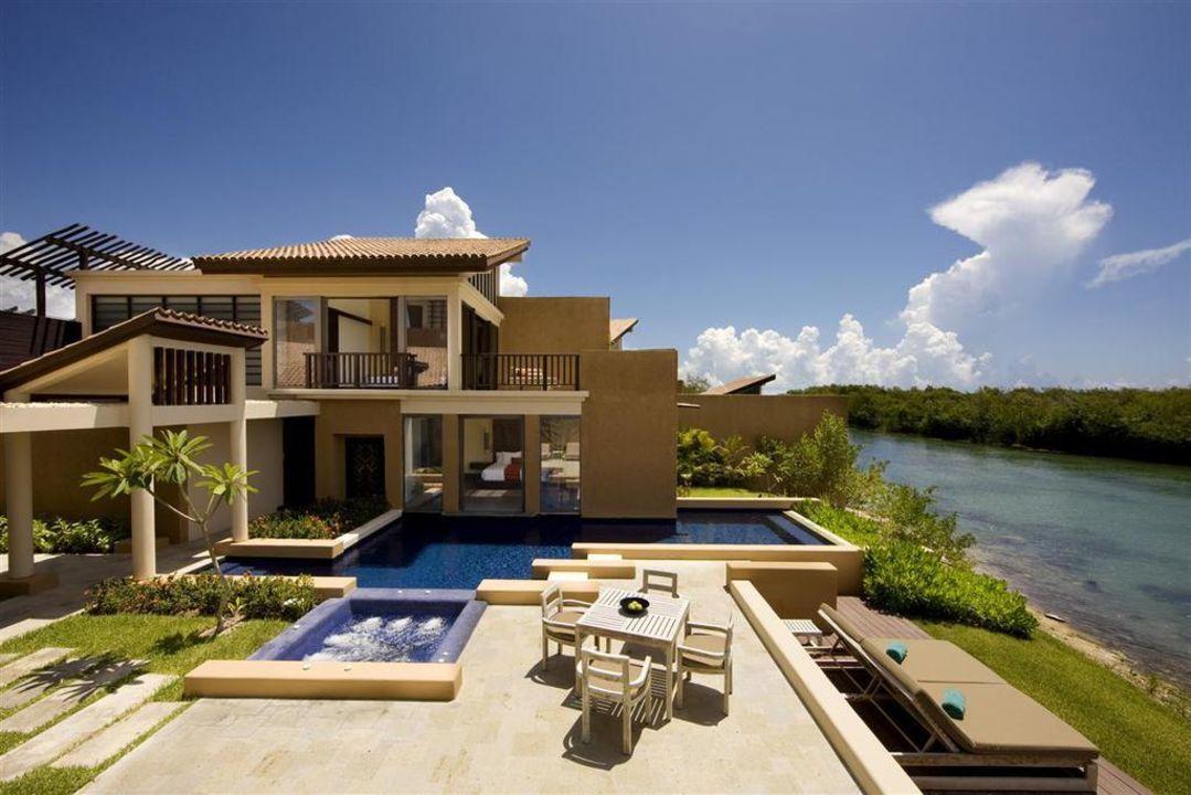 Villa - Außenansicht Hotel Banyan Tree Mayakoba