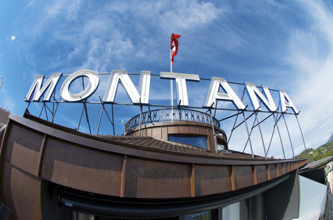 Aussicht aus der Penthouse Spa Suite Art Deco Hotel Montana Luzern