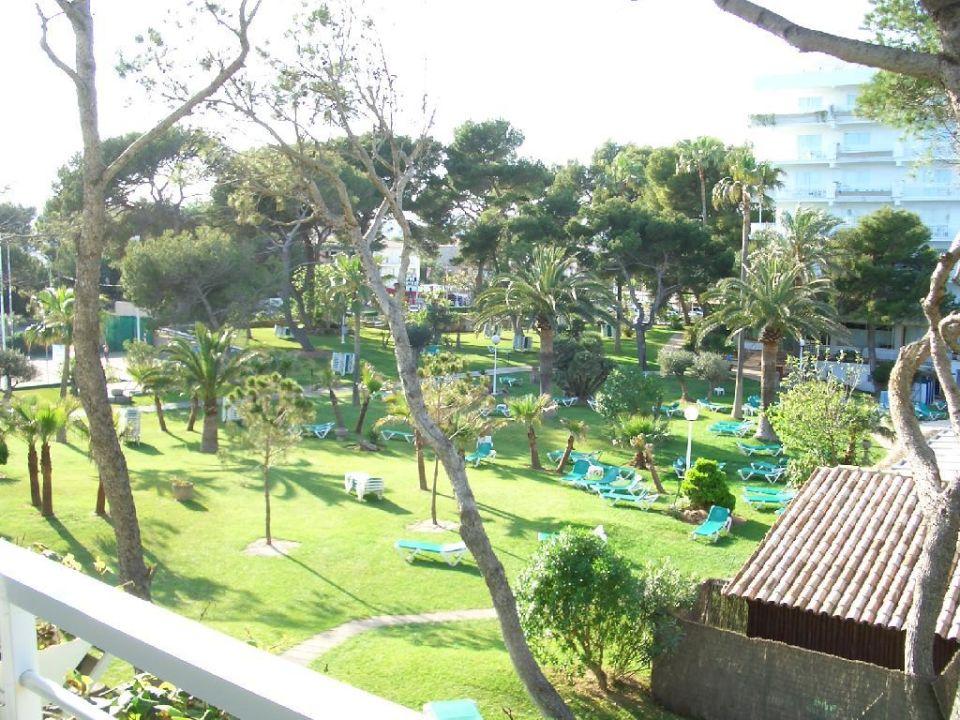 Vom Balkon in den Garten Aparthotel Esperanza Park