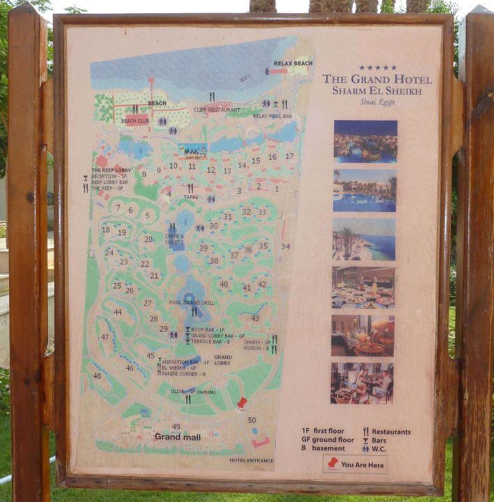 Karte ägypten Sharm El Sheikh.Karte The Grand Hotel Sharm El Sheikh Hadabat Umm Es Sid