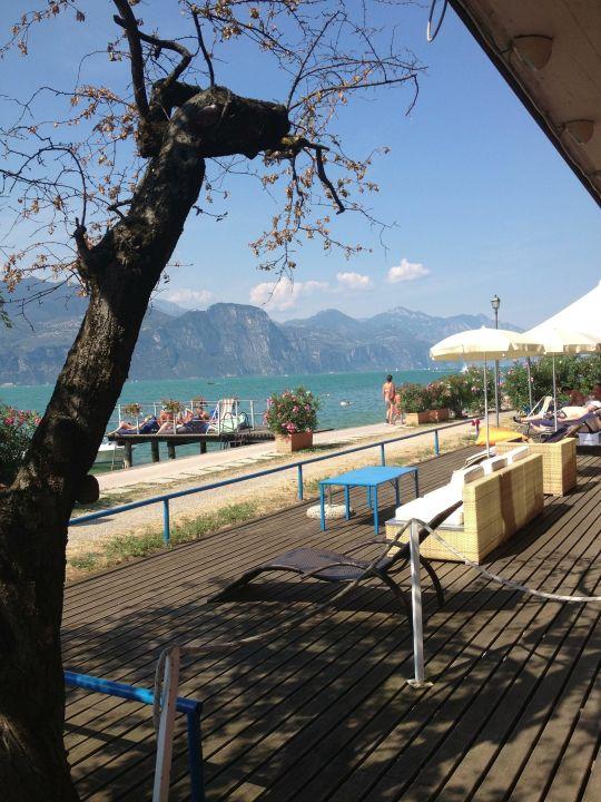 Der Blick vom Liegestuhl  Hotel La Caletta Bolognese
