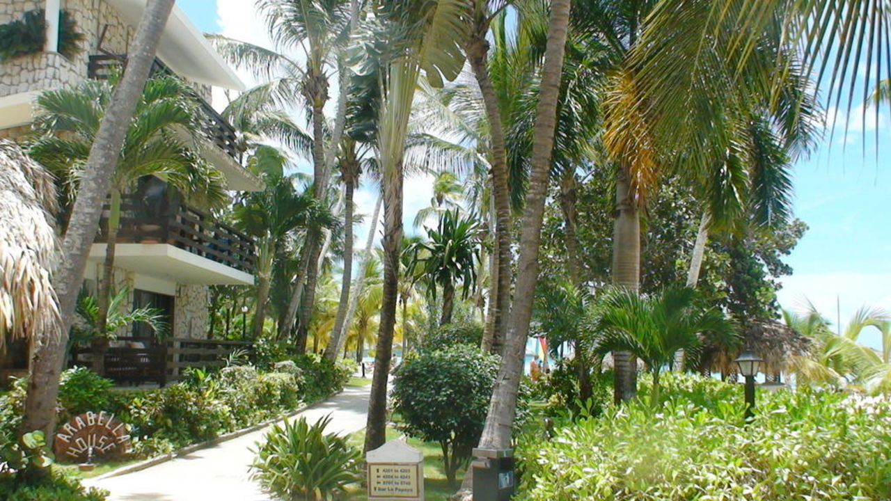 Weg zum Pallace-Strand Hotel Viva Wyndham Dominicus Beach