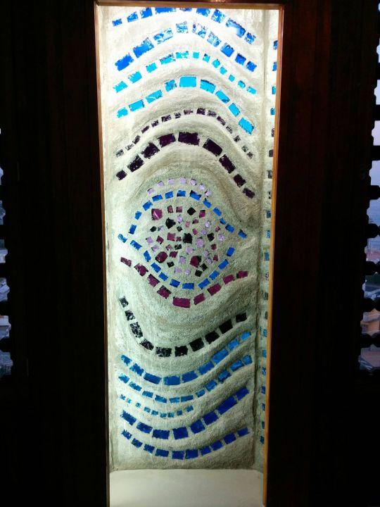 Fassadengestaltung von innen (abends) Hotel Playa del Ingles  (Vorgänger-Hotel – existiert nicht mehr)