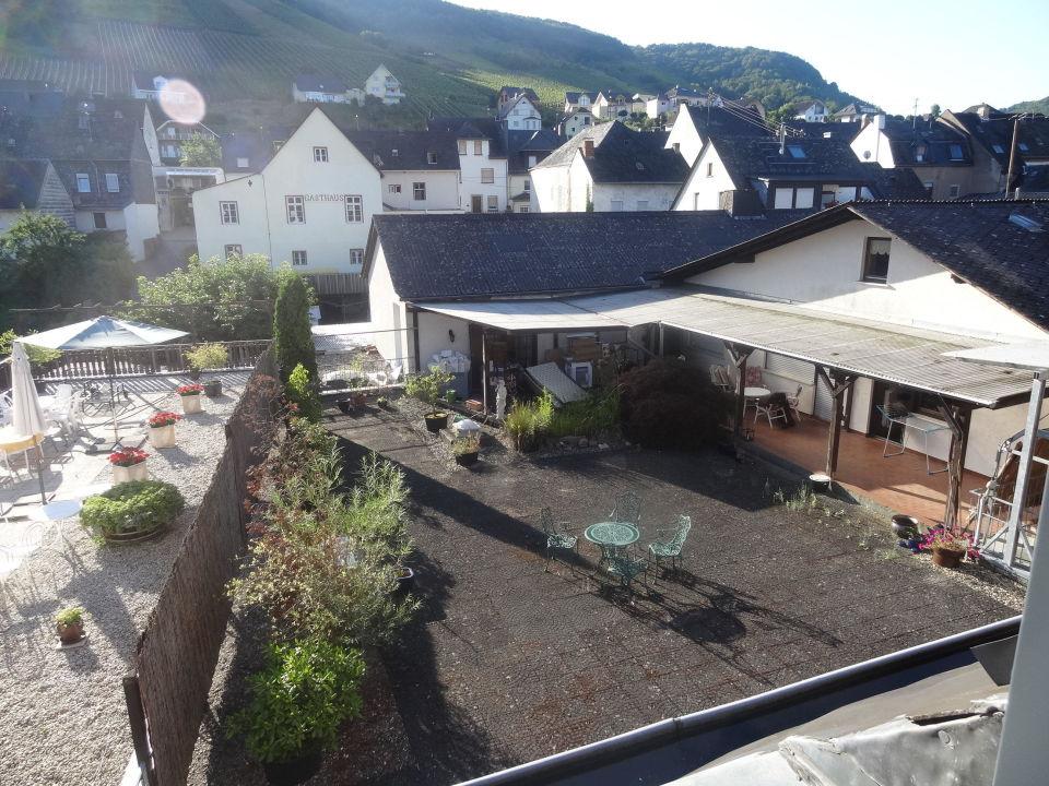 Blick aus dem Zimmer, Rückseite Hotel Weingut Amlinger&Sohn