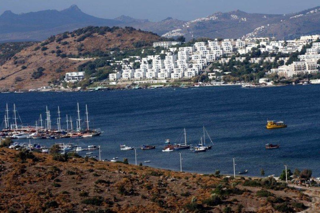 Schiffe in der Bucht des Hotels Hotel Eken Resort
