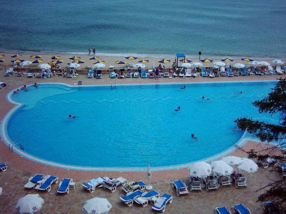 Pool- Strandblick vom Riviera Beach Hotel Hotel Riviera Beach