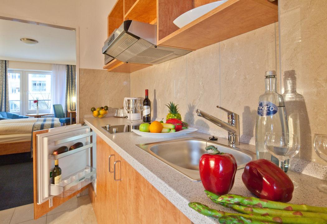 Zimmer mit Separate Küche Apartment-Hotel Hamburg Mitte