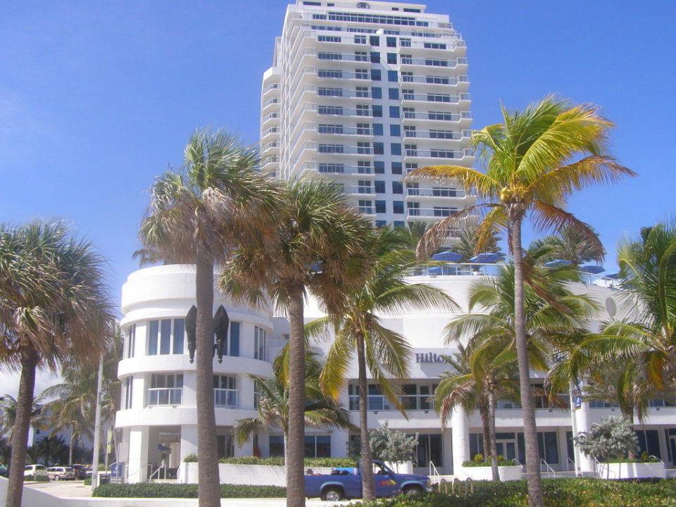 Ansicht vom Strand Hotel Hilton Fort Lauderdale Beach Resort