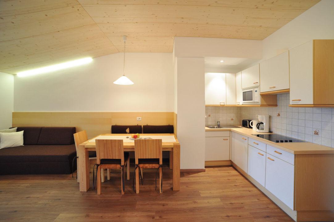 Wohnraum und Küche Residence Obermühle zu Schanzen
